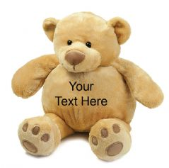 Personalised Teddy Bear - Mumbles Soft Plush Zippie Bear